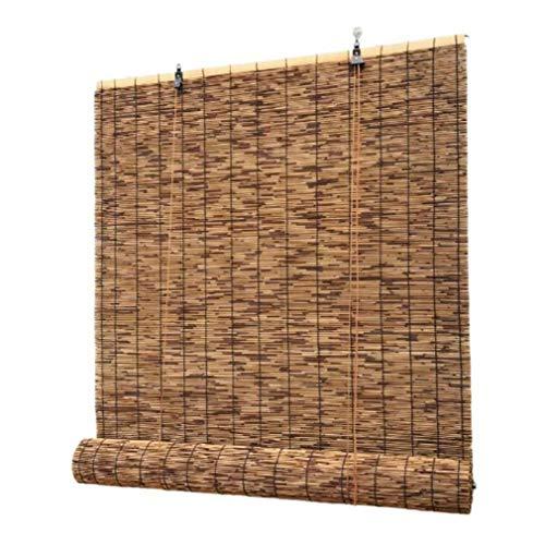 Tienda De Bambú, Carrete Tienda Al Aire Libre, Tienda De Venidad, Madera, 100% Lámina Salvaje, Para Decoración Pared Interna/Retro Al Aire Libre,Carbonized Color-1.3X2.5m/51 * 98in