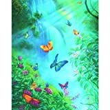SUNSOUT INC Butterflies in The Mist 1000pc Jigsaw Puzzle by Tom Dubois