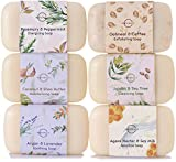 O Naturals 6 Piece Moisturizing Body Wash Bar Soap Collection. Hand Soap, Acne Soap 100% Natural Organic Ingredients & Therapeutic Essential Oils. Vegan Gift Set Triple Milled Women & Men 4oz Each