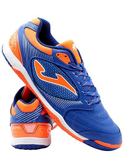 Joma Dribling, Zapatilla de fútbol Sala, Blue-Orange, Talla 7 US (40 EU)