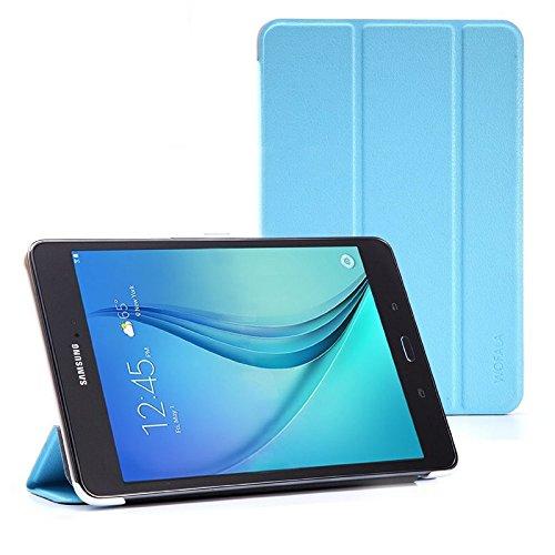 WOFALA Funda para Samsung Galaxy Tab S2 9.7 de 9.7 pulgadas, ultrafina, ligera, con función de reposo y encendido automático, diseño de leopardo