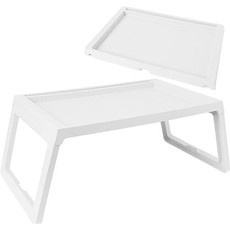 SUNGRAN 折り畳みテーブル ベッドテーブル テーブル 折りたたみ ミニテーブル 約68×36×26cm ホワイト