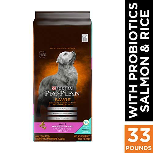 Purina Pro Plan With Probiotics Dry Dog Food, SAVOR Shredded Blend Salmon & Rice Formula - 33 lb. Bag
