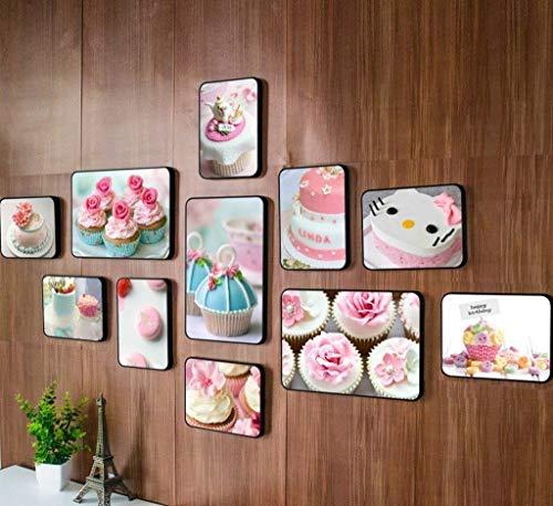Jjek fotolijst fotomuur, creatieve fotomuur, een totaal van 11 stks,3 (30x20), 8 (20x15). Geschikt voor banketbakkerij interieur decoratieve muren B