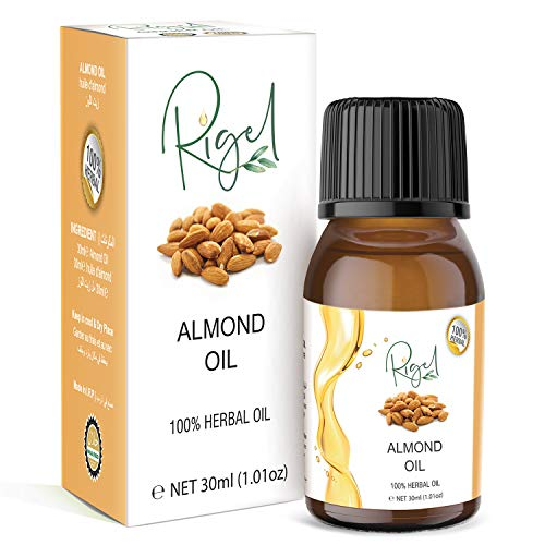 RIGEL - 100% Herbal Almond Oil | Ideal for Massage, Skincare & Haircare - 30ml