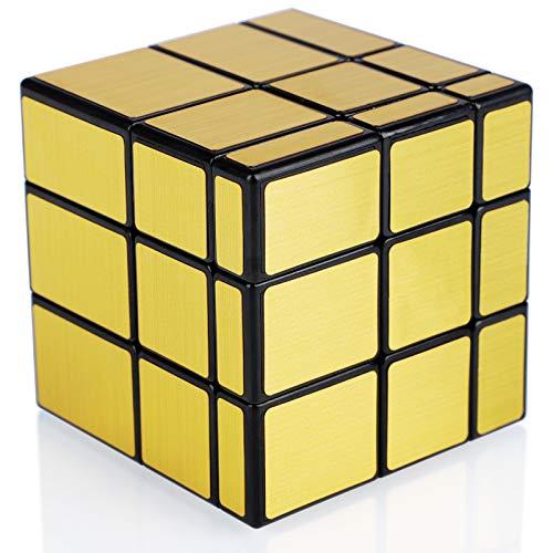 Maomaoyu Cubo Mirror 3x3 3x3x3 Mirror Cube Puzzle Magico Cubo de la Velocidad Espejo Golden