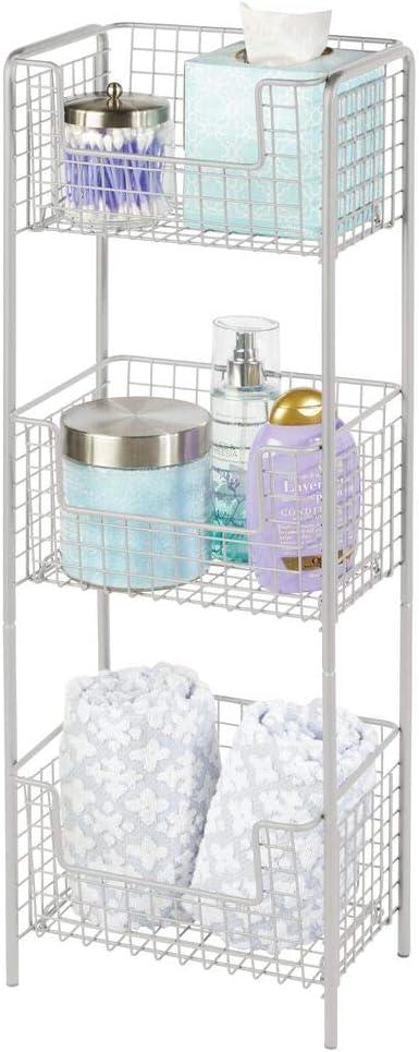 mDesign 3 Dedication Ranking TOP17 Tier Vertical Standing Shelving Bathroom Decorat Unit