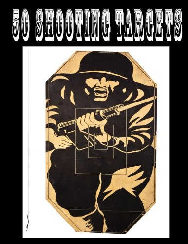 50 Shooting Targets 8.5' x 11' - Silhouette, Target or Bullseye: Great for...