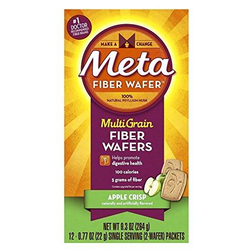 Metamucil Metamucil Fiber Wafers, Apple Crisp 24 each