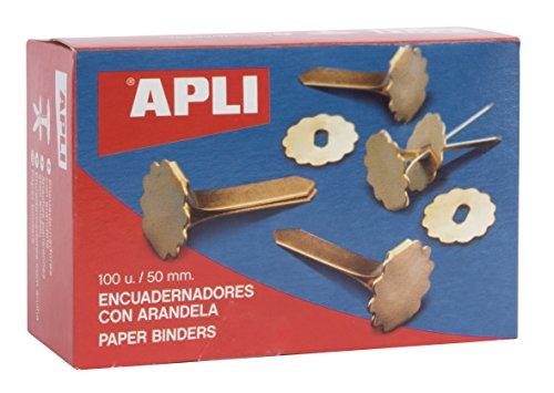 APLI 12288 Boîte de 100 Attaches parisiennes avec oeillets 50 mm
