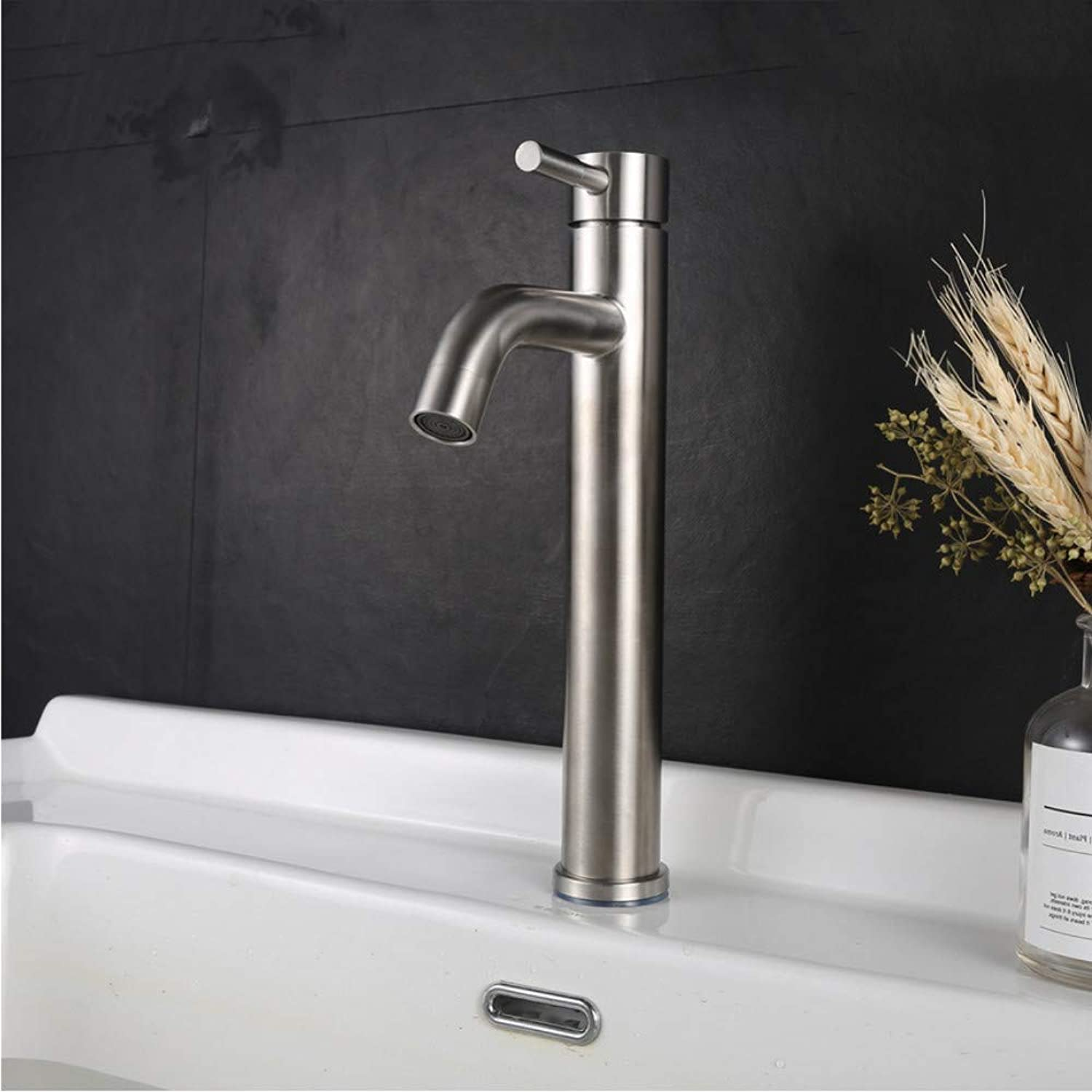 LLLYZZ Torneira Bathroom Faucet Robinet 304 Stainless Steel kran Vanity Basin Faucet grifo lavabo Hot and Cold Water Tap