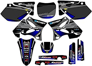 Compatible with Yamaha 2002-2004 YZ 125/250 (2-Stroke), Surge Black Graphics Kit