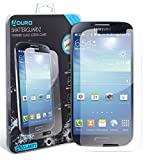 Aduro Galaxy S4 Tempered Glass Screen Protector Shatterguardz Anti-Scratch, Anti-Fingerprint Coating, Ultra-Sensitive Touch Tech for Samsung Galaxy S4