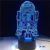 Warship night light decoración familiar regalo para niños touch color sleep light gloss light drop delivery