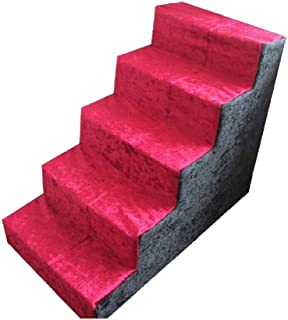 LMCLJJ Pet Steps/Stairs with Foam for Dogs & Cats Toy Leisure Entertainment