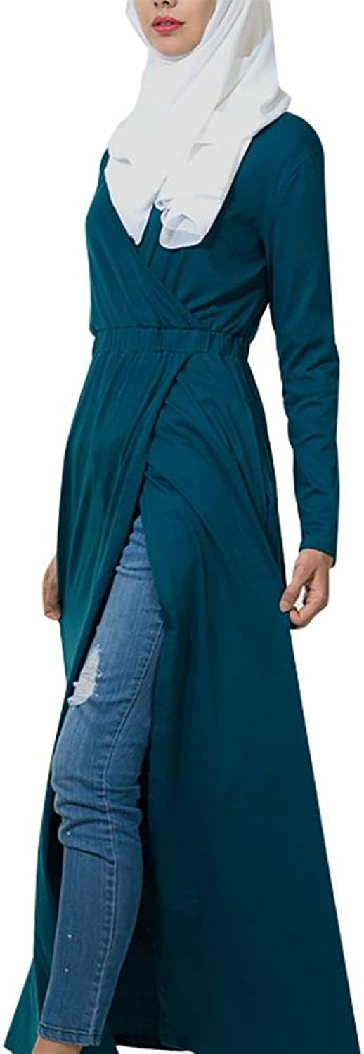 Basic Wrap Around Jersey Shrug Dress  Teal