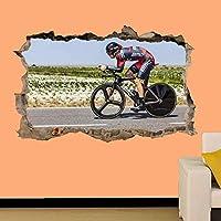 UYEDSRウォールステッカースピードウェイ自転車レーンウォールステッカー3Dアート壁画オフィス家の装飾50x70cm
