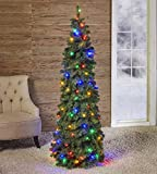The Lakeside Collection Pre-Lit LED Pop Up Artificial Christmas Tree - 6 Feet Tall - Multicolor