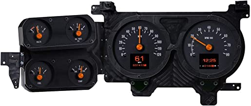 Dakota Digital RTX-73C-PU-X Retrotech Gauge Instrument System Compatible with 1973-87 Chevy Pickup, 1973-91 Chevy Blazer, GMC Jimmy and Suburbans. Styled after 1973-75 Chevy Pickup.