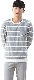 メンズ パジャマ 長袖 上下 セット ボーダー ルームウェア 部屋着 4色