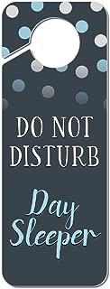Graphics and More Do Not Disturb Day Sleeper Plastic Door Knob Hanger Sign