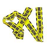 NET TOYS Ruban de Signalisation Bande Jaune Zone Interdite Déco Halloween Party Ruban Crime Scene Article de Fête