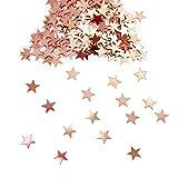 Oblique Unique® Stern Konfetti Roségold Über 500 STK. Streu Deko Tischdeko für Weihnachten Geburtstag Fasching Karneval Party