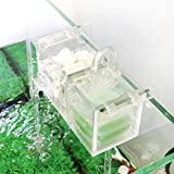 SENZEAL Aquarium Filter Box Fisch Tank Acryl Externe Filter Box Außenfilter Wasserfilter zur biologischen Filterung mit Filtermaterial Transparenz (2 Gitter)