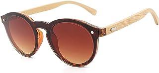 f30d1a4473 Gafas Gafas de Sol Redondas con Patas de bambú para Hombre y Mujer Moda  Clásica Gafas