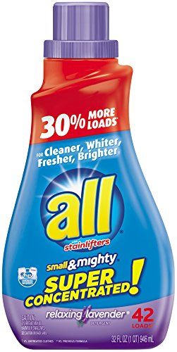 all Small & Mighty Liquid Laundry Detergent, Relaxing Lavender, 32 Ounces, 42 Loads