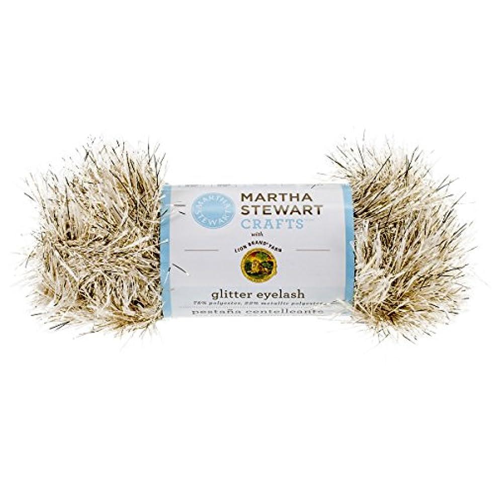 Lion Brand Yarn 5800-588 Martha Stewart Glitter Eyelash Yarn, Yellow Gold