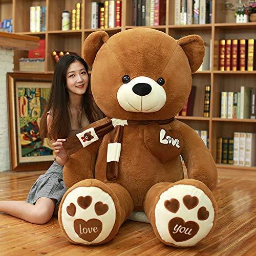 Xiaotian Extra große Umarmung Bär 2 Meter Teddy Panda doll doll Mädchen nettes großes Bärenplüschspielzeug Freundin schicken,A,160cm