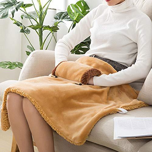 Gelentea Manta térmica suave con calefacción eléctrica para calentar la manta de...
