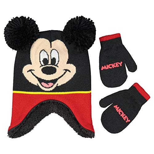 Micky Mouse Toddler Knit Beanie and Mittens