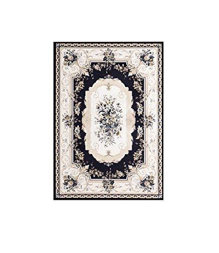 YOCASA Europese pastorale tapijt Amerikaanse Rose Tapijt, bankovertrek in de woonkamer, brede kruipende babydeken (kleur: beige, afmeting: 80 * 150 cm)