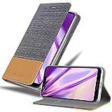 Cadorabo Hülle für Motorola Moto G7 Power in HELL GRAU BRAUN - Handyhülle mit Magnetverschluss, Standfunktion & Kartenfach - Hülle Cover Schutzhülle Etui Tasche Book Klapp Style