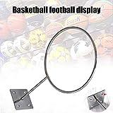 Kppto Titular de Baloncesto de fútbol de Montaje en Pared Footbal Bola del Voleibol de visualización de Almacenamiento en Rack Soporte FK88 (Color : Gris Oscuro)