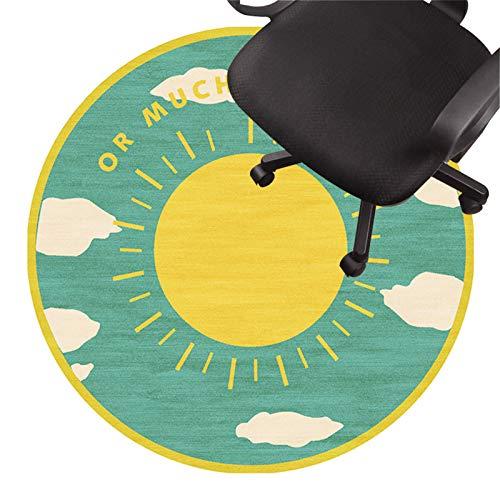 alfombra para silla gaming Tapete Para Silla De Oficina Alfombra De Pelo Bajo Tapete Antideslizante Para Silla Tapete Protector De Piso Silencioso Para Pisos De Madera Baldosa(Size:100cm/39in,Color:C)