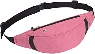 Men's and Women's Sports Leisure Waist Pack, Large Capacity Waterproof Outdoor Sport Waist Pack Mini Crossbody Bag for Cycling Sport Travel, Mountain Climbing Multiple Colour (Color : Pink)