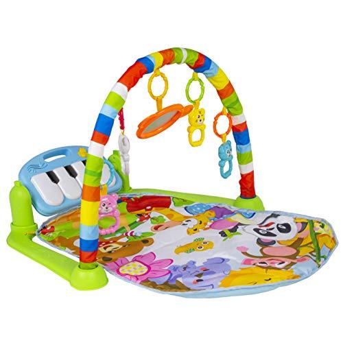 Calma Dragon Manta de Gimnasio para Bebes BR02001, Alfomba Musical con Piano, Esterilla con Juegos Infantil, Actividades y Juguetes para el Suelo (Multicolor)