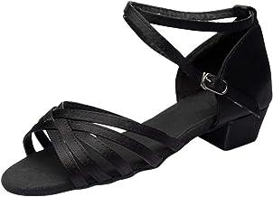 zarupeng??? Baile de Moda para Mujer Rumba Waltz Baile de Baile Latino Salsa Zapatos de Baile Sandalias de tacón bajo