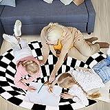 Wishstar 3D Illusion Teppich, Optischer Täuschungsteppich Teppich, Runder Mandala-Teppich Für Wohnzimmer Schlafzimmer Flur Läufer Esszimmer Teppich Fußmatte Anti-schlittern Non Shedding - 2