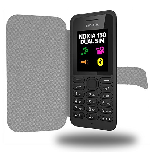 Rouge Collection Serpent Custodia Pelle Ultra Slim per Nokia 130 smartphone - Flip Case Funda Cover protettiva Nokia 130 PU Pelle - CASE Industry accessori