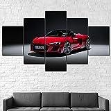 hgjfg Leinwanddrucke Leinwandbilder XXL 5 Teilig Audi R8