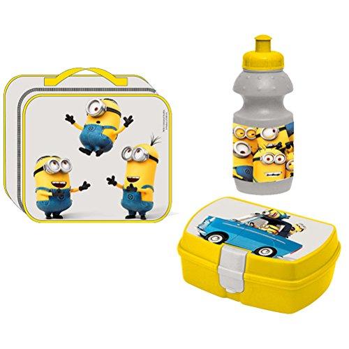 Minions Brotzeit Lunch Set Brotdose, Trinkflasche und Tasche