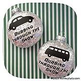 Volkswagen Beetle Christmas Ornaments - VW Bug Kombi Bus - Set of TWO - Dubbing through the Snow