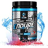 eFlow Nutrition Endure BCAA Plus EAA - Essential Amino Acids Electrolyte Powder Intra Workout - Improve Energy, Recovery and Performance - Raging Rocket Pop(30 Servings)