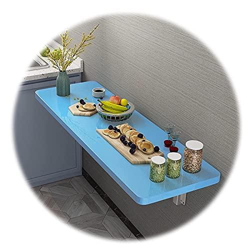 ZWYSL Heavy Duty Escritorio Flotante Mesa Plegable Pared Usar para Oficina En Casa/Lavandería/Bar En Casa/Cocina y Comedor Ahorro Espacio (Color : Blue, Size : 120x30cm)