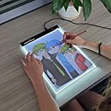 amiciVision LED Lighted Drawing Board A4 Size Tracing Board with Brightness Controlled Touch
