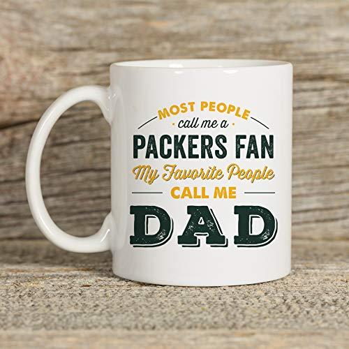 Mike21Browne Packers Mug Becher f¨¹r Papa Packers Geschenk Kaffee-Haferl Green Bay Packers Geschenk f¨¹r Papa